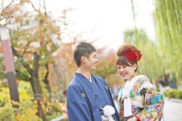 [紅葉シーズン]大阪から和装フォトウェディングで京都へ